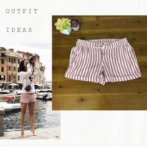 Old Navy Mid Rise Linen Striped Shorts Size S